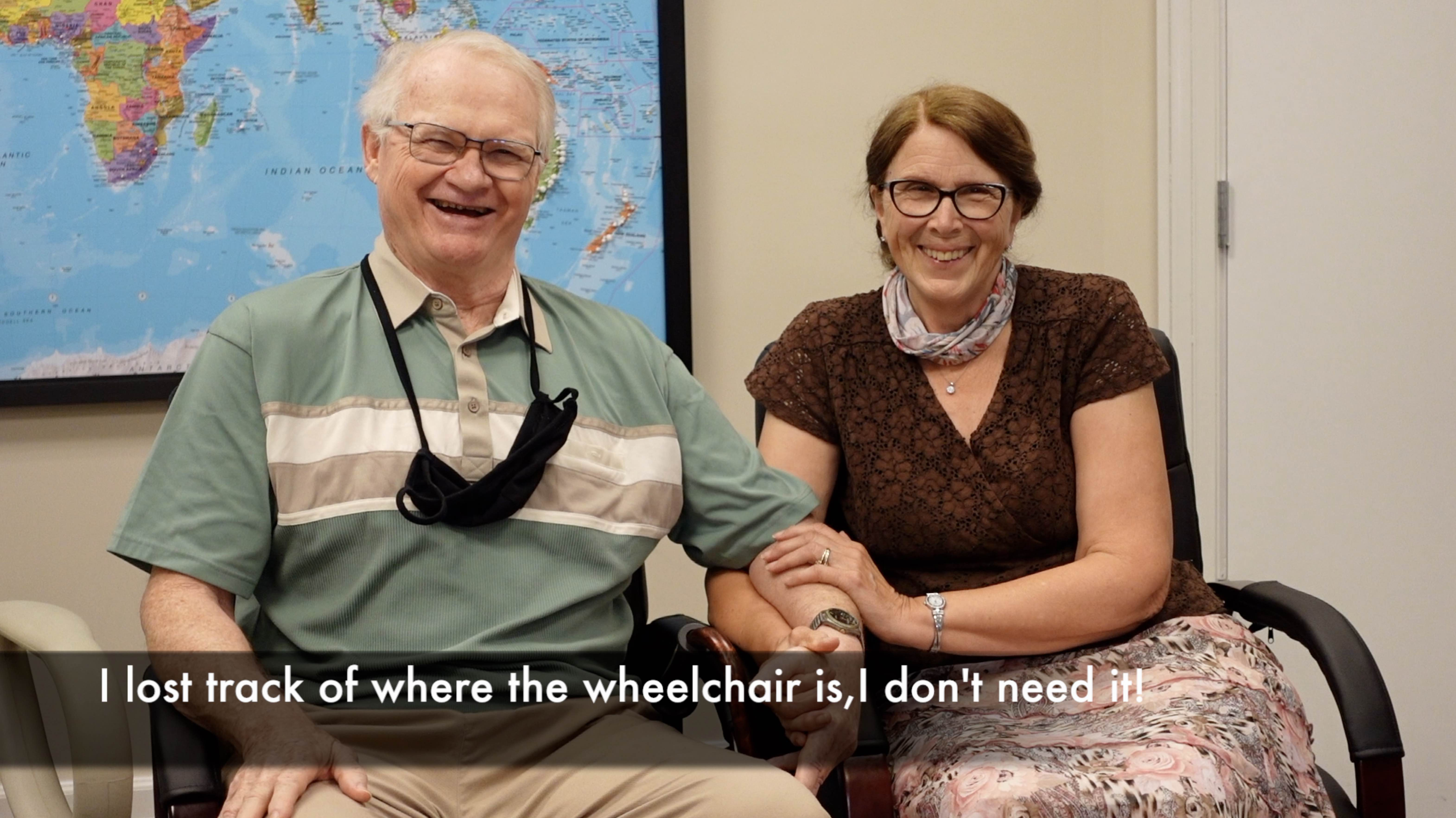 """I lost track of where the wheelchair is, I don't need it!"" after treatment by Edward Tobinick, M.D."