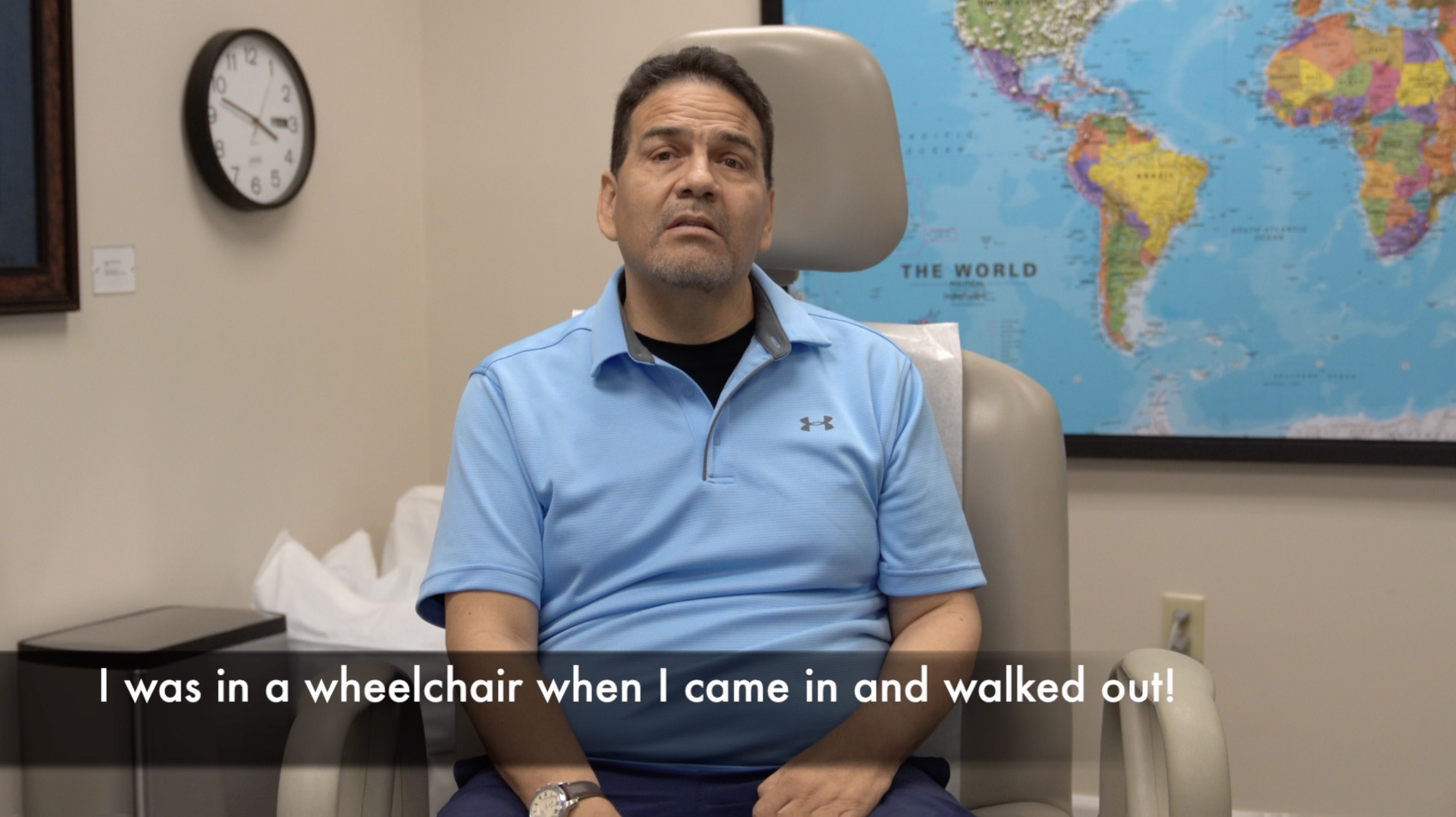 From wheelchair to walking unassisted after treatment by Edward Tobinick, M.D., 2 yrs after stroke